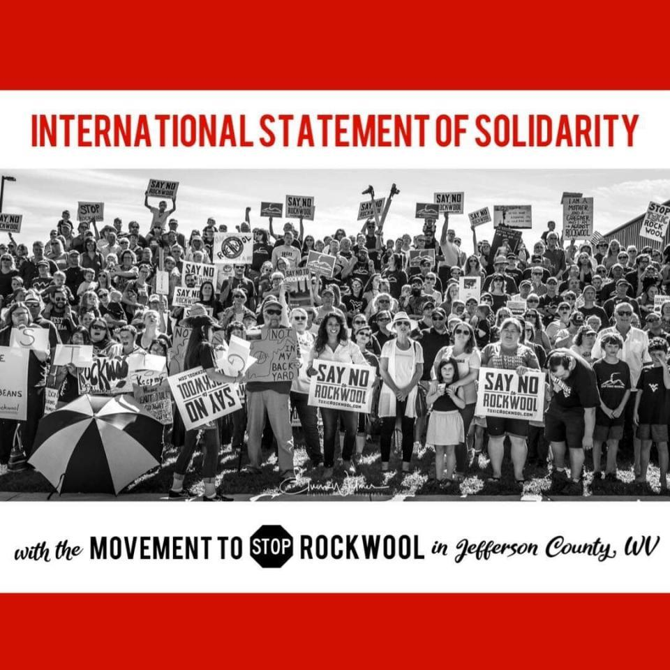 Solidarity with Ranson, W.V. fighting new Rockwool plant