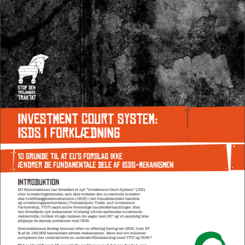Investment Court System – ISDS i forklædning